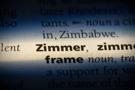 zimmer word in a dictionary. zimmer concept, definition.