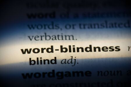 word-blindness word in a dictionary. word-blindness concept, definition.