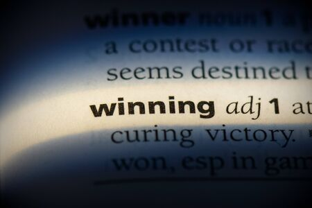 winning word in a dictionary. winning concept, definition.