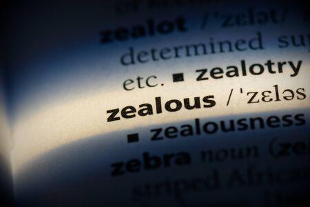 zealous word in a dictionary. zealous concept, definition.