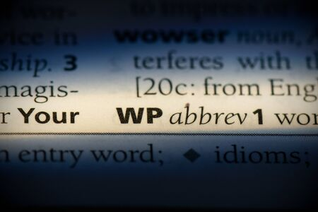 wp word in a dictionary. wp concept, definition.