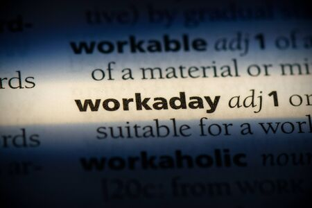 workaday word in a dictionary. workaday concept, definition.