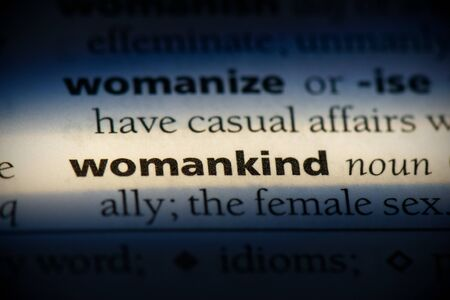womankind word in a dictionary. womankind concept, definition.