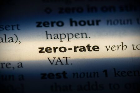 zero-rate word in a dictionary. zero-rate concept, definition.