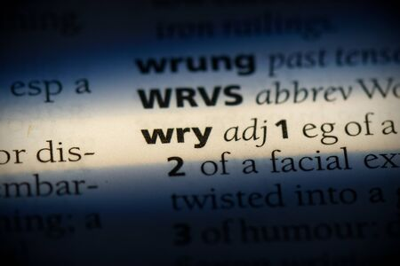 wry word in a dictionary. wry concept, definition.