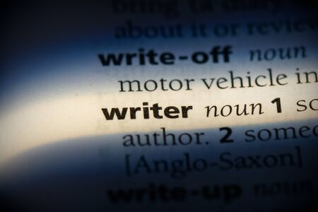 writer word in a dictionary. writer concept, definition. Banco de Imagens