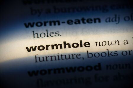 wormhole word in a dictionary. wormhole concept, definition. 版權商用圖片