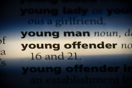 young offender word in a dictionary. young offender concept, definition. 版權商用圖片