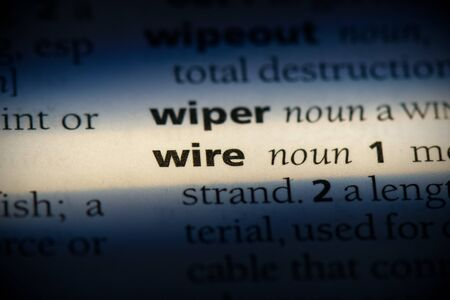 wire word in a dictionary. wire concept, definition.