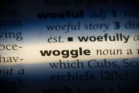 woggle word in a dictionary. woggle concept, definition. 版權商用圖片
