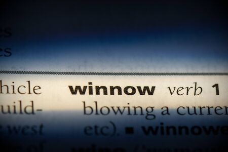 winnow word in a dictionary. winnow concept, definition. 版權商用圖片