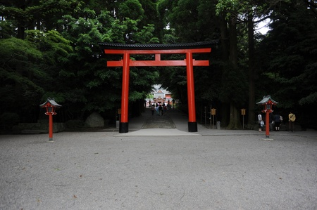 shinto: A gate to shinto shrine in Kirishima, Japan