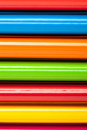 binders: Colored ring binders on a white background