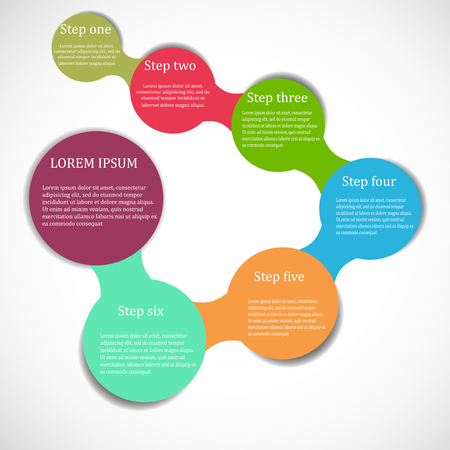 colour chart: circle flow chart banner
