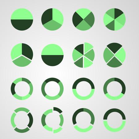 range of motion: Set of circle diagram. Business infographic concept Illustration