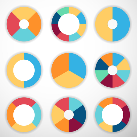 Pie chart vector. Set of circle diagram. Business infographic concept