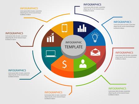 3d Infographic template cirkeldiagram vector illustratie Stock Illustratie