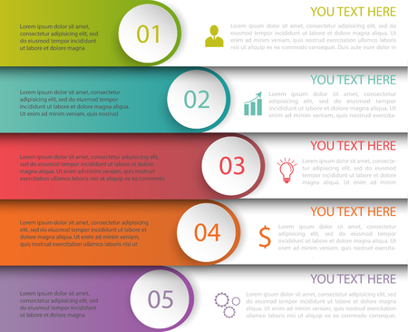 Modern Minimalistic Multicolor Infographics Template with icons