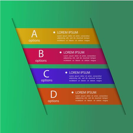 step up: Modern colorful business origami style step up options numbers banner template. Vector illustration.