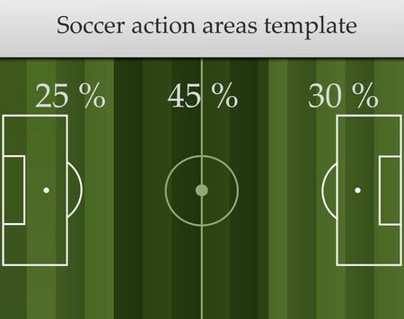 areas: action areas for football soccer game vector illustration