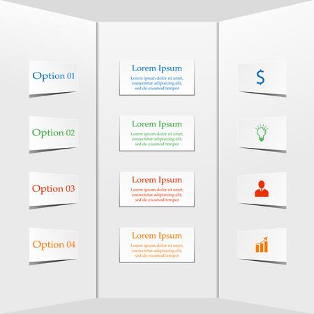 vizualisation: Flowchart diagram, scheme. Infographic elements. Business concept with 4 options, parts, steps, processes. Abstract infographics data vizualisation background Illustration