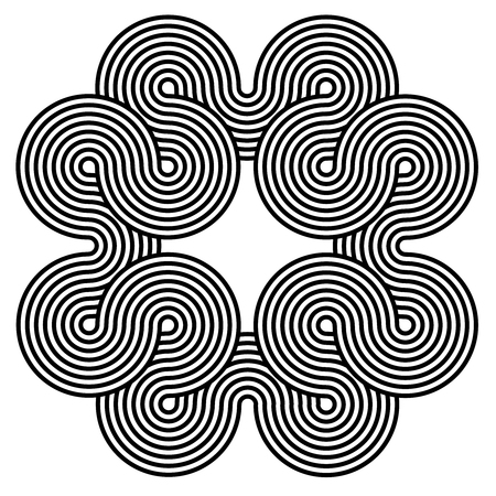 hypnotise: Black and white spiral background. Spiral line shape design consisting of twirles
