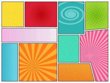 Fumetti sfondo. Mock-up di pagina di Fumetto. stile pop-art. Modello per le applicazioni web e mobile