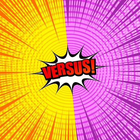 Comic style Versus design vector illustration Illustration