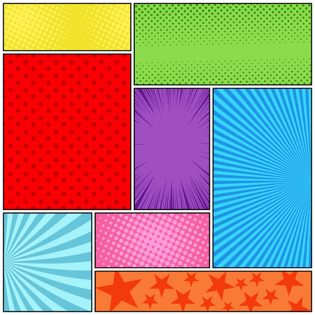 Comic book page colorful composition