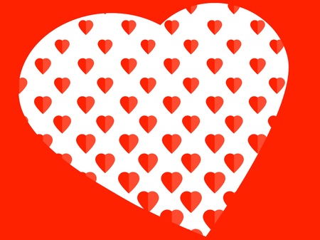 Elegant romantic amorous red concept with love hearts vector illustration 矢量图像