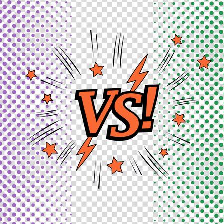 Comic Versus concept 矢量图像