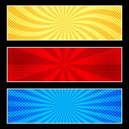 Comic horizontal banners