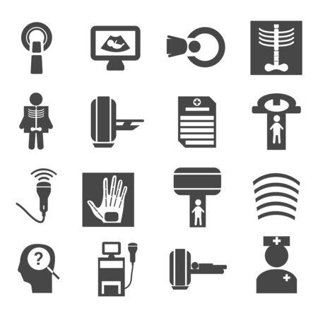Medical diagnostic and test icons set  イラスト・ベクター素材