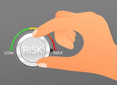 Business risk management concept 向量圖像