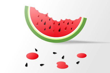 Ripe watermelon light background Çizim