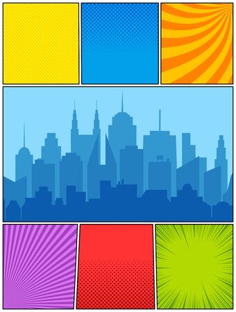 Colorful comic composition