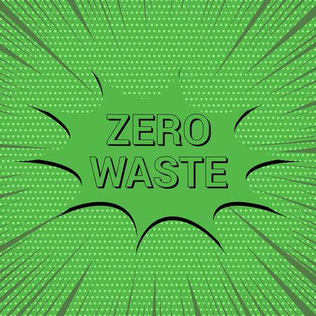 Comic Zero Waste eco green concept