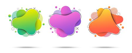 Colorful bright web banners Ilustrace