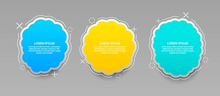 Colorful web banners set Ilustrace