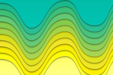 Abstract wavy paper lines background Ilustrace