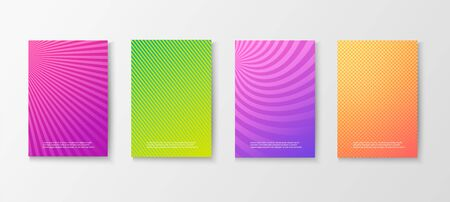 Bright colorful posters set Ilustrace