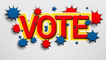 Vote inscription colorful concept