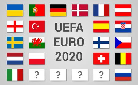 2020 Euro championship football cup composition