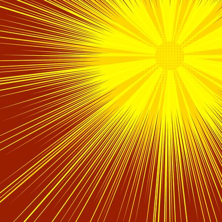 Abstract sunny explosive comic background Ilustrace