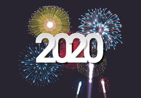 2020 New Year celebration template