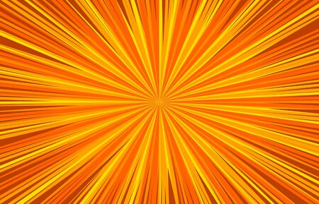 Abstract bursting orange bright template with radial and dynamic rays effects. Vector illustration Ilustrace