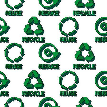 Ecology protection seamless pattern Stock Illustratie