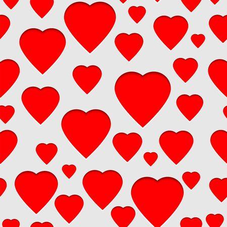 Romantic amorous seamless pattern