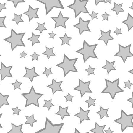 Monochrome starry seamless pattern