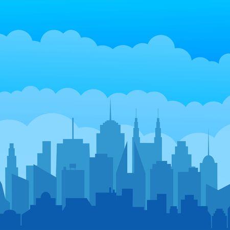 City silhouette modern concept Stock Illustratie